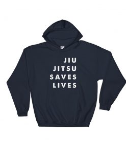 Jiu Jitsu Saves Lives Hoodie Navy