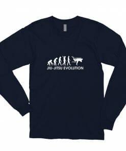 Jiu Jitsu Evolution Long Sleeve Shirt Navy