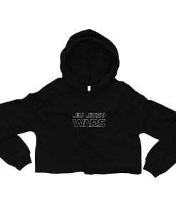 Jiu Jitsu Wars Women's Cropped Hoodie Black