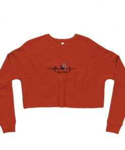 Jiu Jitsu Heart Beat Women's Cropped Sweatshirt Brick