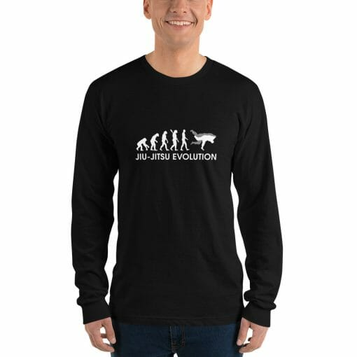 Jiu Jitsu Evolution Long Sleeve Shirt Mockup