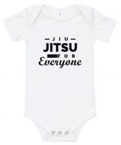 Jiu Jitsu for Everyone Baby Onesie White