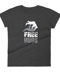 Free Hugs Women's T-Shirt Dark Grey Heather