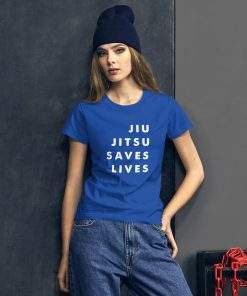 Jiu Jitsu Saves Lives Women's T-Shirt Mockup 2