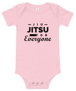 Jiu Jitsu for Everyone Baby Onesie Pink