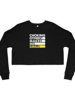 Choking Others Women's Cropped Sweatshirt Black