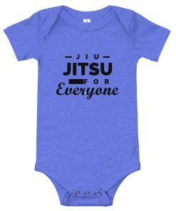 Jiu Jitsu for Everyone Baby Onesie Blue