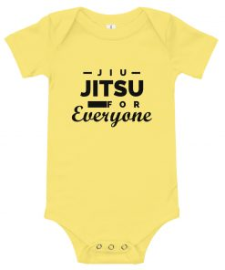 Jiu Jitsu for Everyone Baby Onesie Yellow