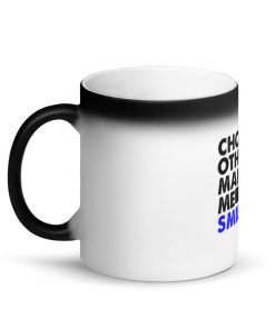 Choking Others Matte Black Magic Mug
