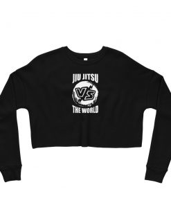 Jiu Jitsu VS World Women's Cropped Sweatshirt Black