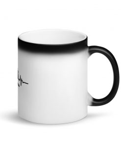 Jiu Jitsu Heart Beat Matte Black Magic Mug Right