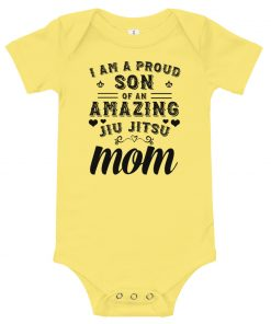Proud Son Baby Onesie Yellow