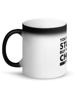 Choke It Out Matte Black Magic Mug Left