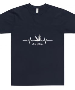 Jiu Jitsu Heart Beat T-Shirt Navy