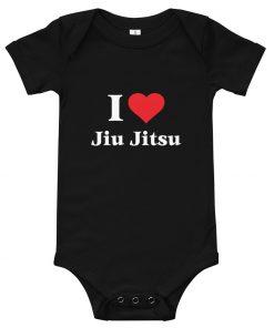Love Jiu Jitsu Baby Onesie Black