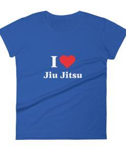 Love Jiu Jitsu Women's T-Shirt Blue
