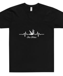 Jiu Jitsu Heart Beat T-Shirt Black