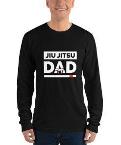 Jiu Jitsu Dad Long Sleeve Shirt Mockup