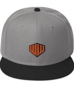 West Island Jiu Jitsu Snapback Hat gray and black