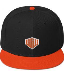 West Island Jiu Jitsu Snapback Hat orange and black