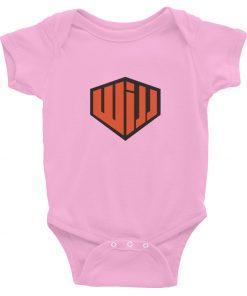 west island jiu jitsu baby onesie pink