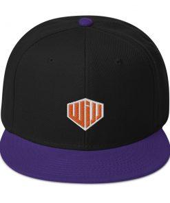 West Island Jiu Jitsu Snapback Hat black and purple