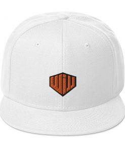 West Island Jiu Jitsu Snapback Hat white