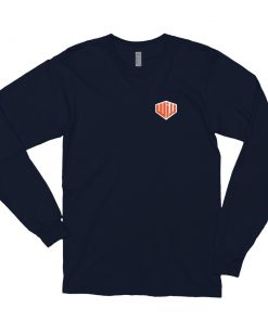 West Island Jiu Jitsu Long Sleeve Shirt Navy Front