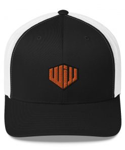 West Island Jiu Jitsu Trucker Cap Black and White