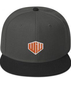 West Island Jiu Jitsu Snapback Hat dark grey