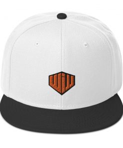 West Island Jiu Jitsu Snapback Hat white and black