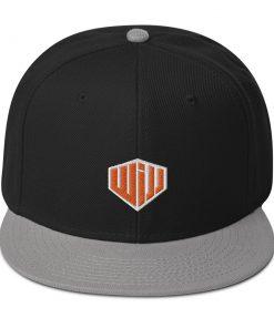 West Island Jiu Jitsu Snapback Hat black and gray