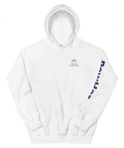 powher women hoodie white