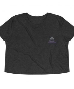 PowHer Women's Crop Tee dark grey