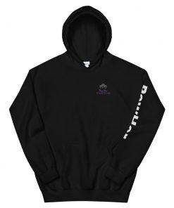 powher women hoodie black