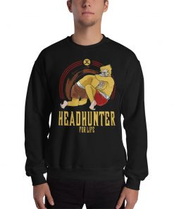 Headhunter for Life Sweatshirt black mockup