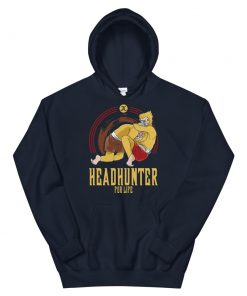 Headhunter for life hoodie navy