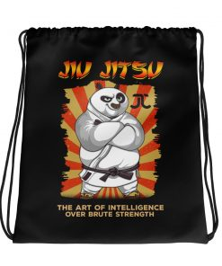 Intelligence over strength drawstring bag