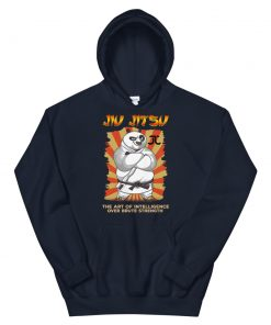 Intelligence over strength hoodie navy