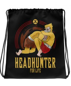Headhunter for life drawstring bag front
