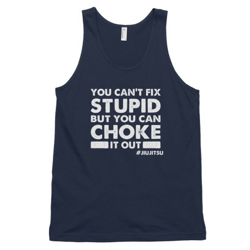 choke it out tank top navy