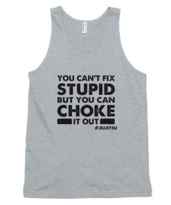 choke it out tank top gray