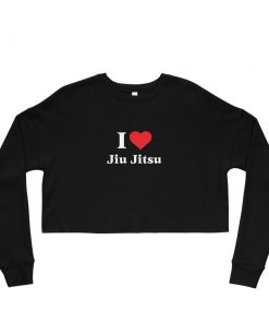 Love Jiu Jitsu Women's Cropped Sweatshirt 12
