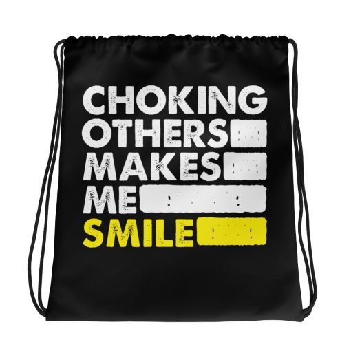 Choking Others Drawstring Bag 1