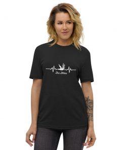 Jiu Jitsu Heart Beat Recycled T-Shirt 3