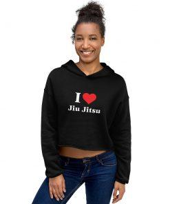 Love Jiu Jitsu Women's Cropped Hoodie 6