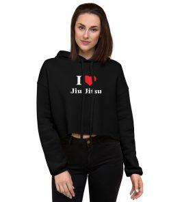 Love Jiu Jitsu Women's Cropped Hoodie 7