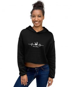 Jiu Jitsu Heart Beat Women's Cropped Hoodie 5