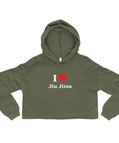Love Jiu Jitsu Women's Cropped Hoodie 8